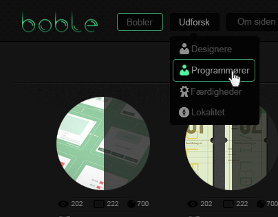 Boble - Dark design
