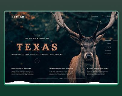 Hunting Website   UI/UX   Landing page