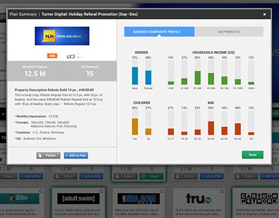 Ad-tech enterprise platform experience design