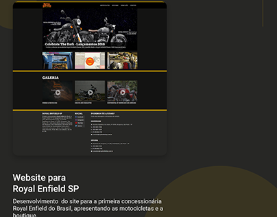 Website para Royal Enfield SP