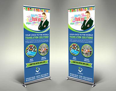Translation Services Signage Banner Roll Up Template
