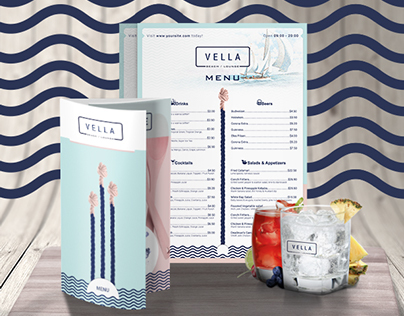 Vella Beach Bar and Dinner Menu