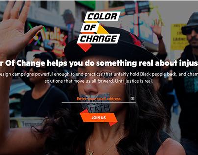 Color of Change Website Redesign
