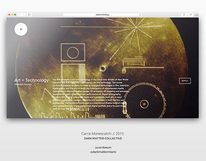 NWSA Art+Tech Landing Page