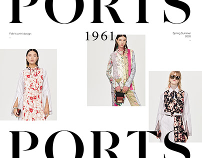 Ports 1961 - Fabric prints Spring Summer 2020