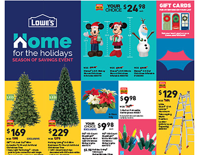Lowe's Holiday Catalogs