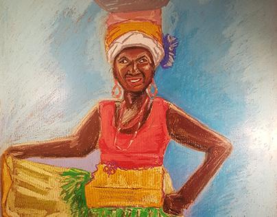Gloria. Pastels on paper. 100x70cm. 2018