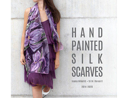 Hand painted silk scarves 2014-2020