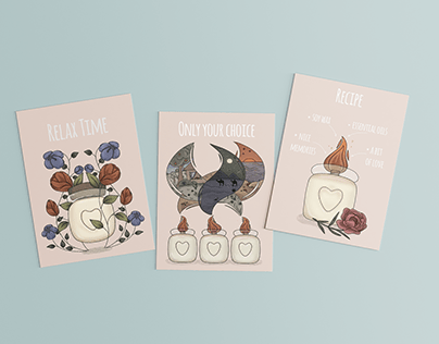 Illustrations for gift cards