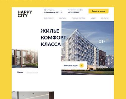 Homepage concept - Happy City