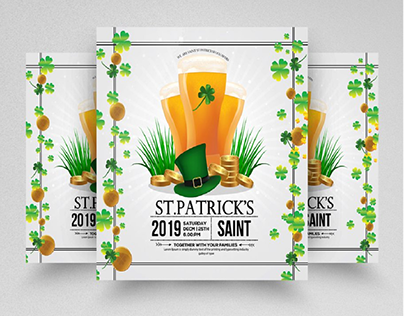 ST.Patrick's Day Party Square Flyer