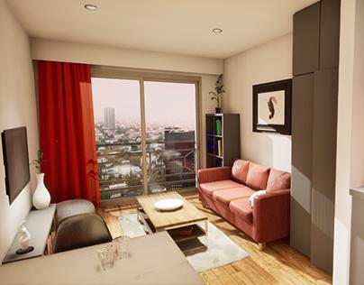 2018 | Studio Apartament – Interior & Video