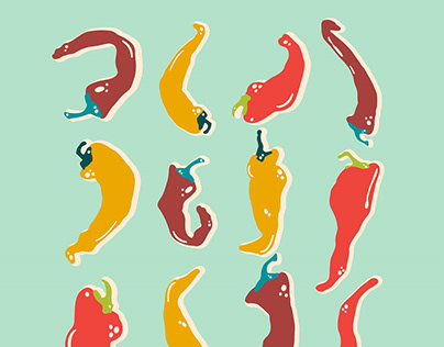 Peppers (print & seamless patterns)