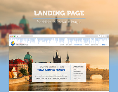 landing page for children's fetival