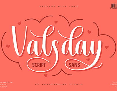 Valsday - Script and Sans Serif Casual Lettering Font