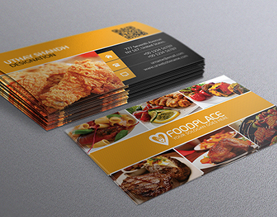 80 best free business card psd templates restaurant business card template fbccfo Image collections
