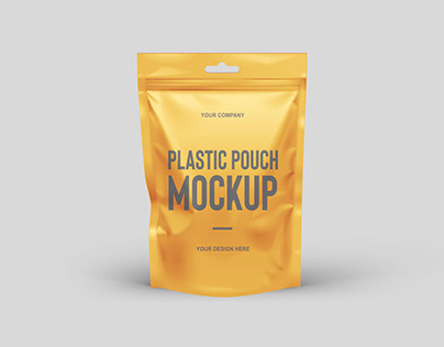 Free Plastic Pouch Mockup PSD