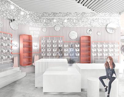 Lingerie Showroom. Powered by me for Dreamdesign studio