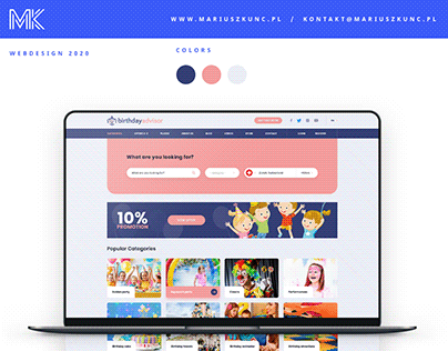 Birthday Advisor / logo & webdesign