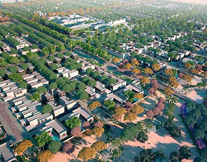Visualisation and modeling of Masdar Eco City (Dubai)