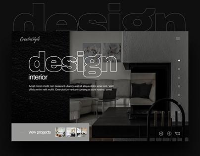 Landing page - design interiors