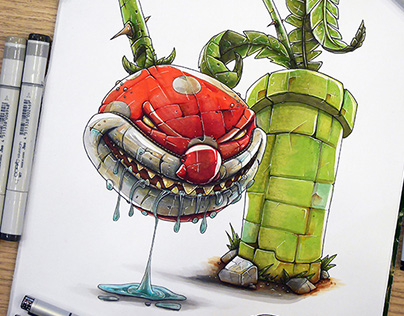 Piranha Plant vs Twisty the clown mashup