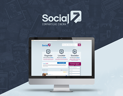 Social7 - Visual ID / UX / Interface design