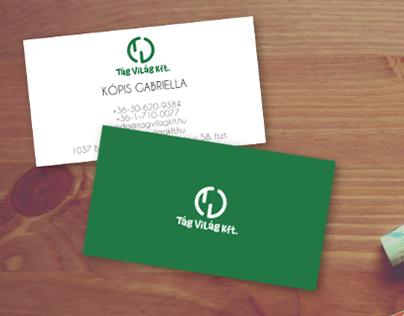 Tág Világ Kft logo and business card