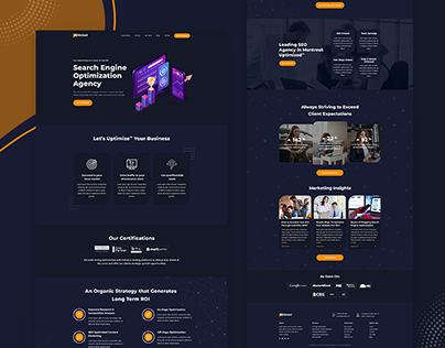 Uptimized Digital Agency | Responsive website redesign