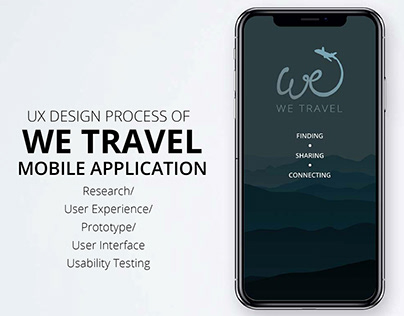Full UX Process of We Travel App