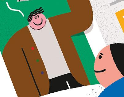 illustrations for Bold Journal