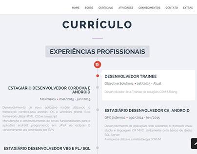 Site pessoal (Currículo e informações de contato)
