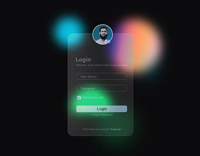 Modern UI Interface Glassmorphism look