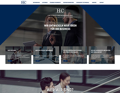 Webdesign Huperz Consulting company
