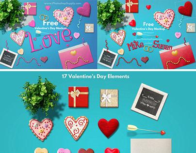 Valentines Day Freebie PSD