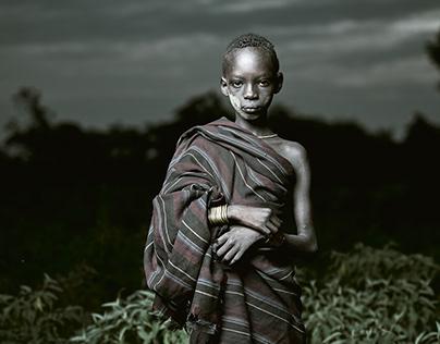 Abyssinia Mursi tribe