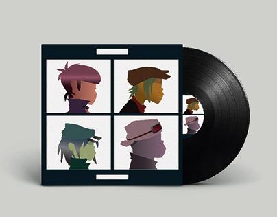 Album flat design Gorillaz