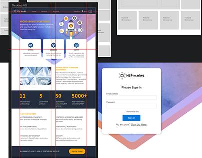 Internal API Marketplace Website
