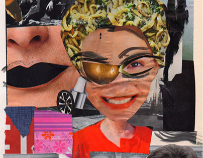 Mother is happy now // Analog Collage