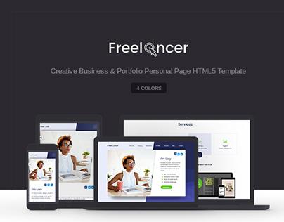 Freelancer - Portfolio Personal Page HTML5 Template