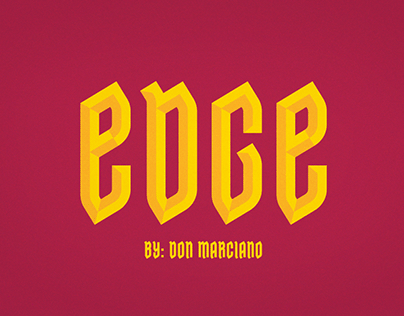 Edge Free Font