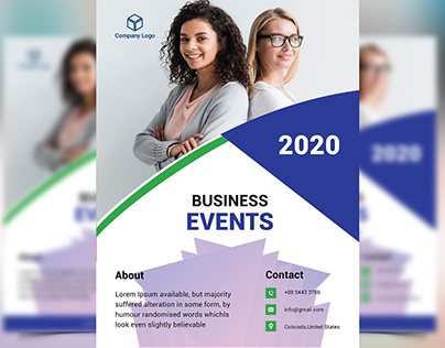 Business events flyer