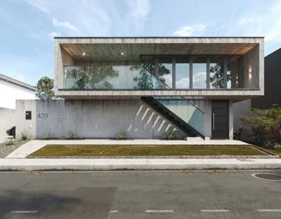Casa Concreto - Render