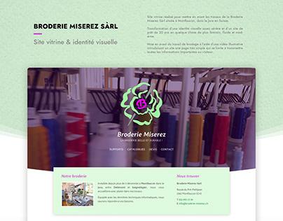 Broderie Miserez - Site Internet & identité visuelle