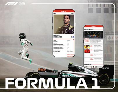 Formula 1 — New Website 2020