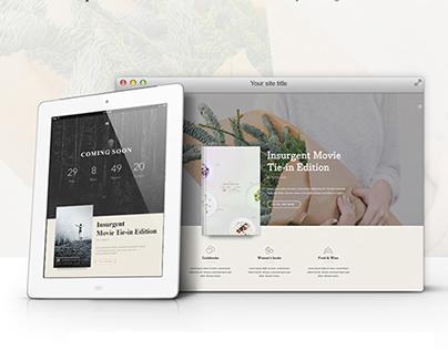 BEBO - Book/Author Landing Page - theme Wordpress