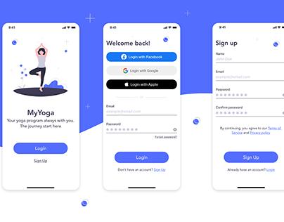 Mobile app - Login/Sign Up UI Design