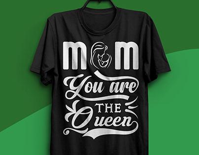 mom typography t shirt design
