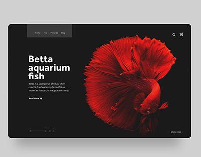 UI Concept: Betta Aquarium fish