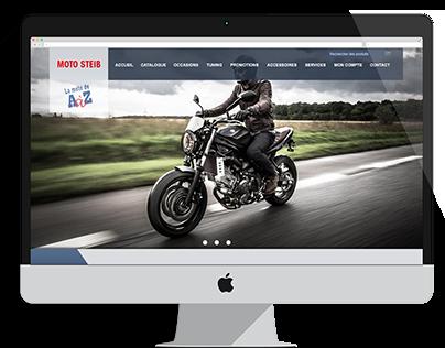 Maquette site web moto Steib